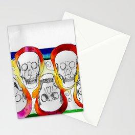 Color Skulls Stationery Cards