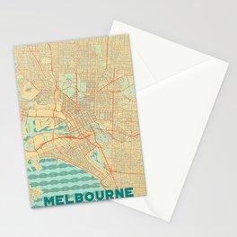 Melbourne Map Retro Stationery Cards