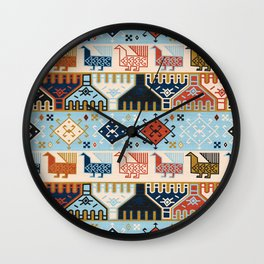 Dena in Light Blue Wall Clock