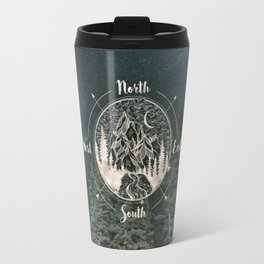 Mountains Compass Milky Way Woods Gold Travel Mug