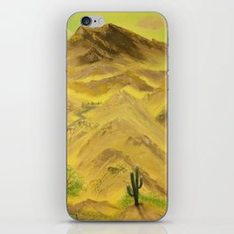 Wonderful desert mountains iPhone Skin