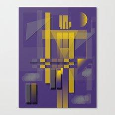 Purple Slices Yellow Canvas Print