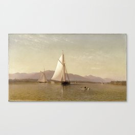 The Hudson at the Tappan Zee by Francis Augustus Silva, 1876 Canvas Print