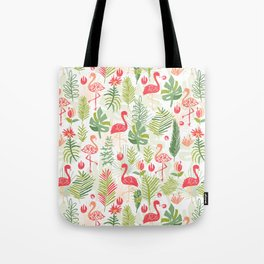 Tropical Flamingo Fun Tote Bag