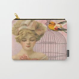 Vintage Victorian Beauty Carry-All Pouch