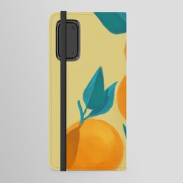 Oranges on yellow Android Wallet Case