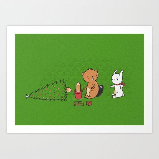 Beavers ruin christmas Art Print