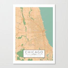Chicago Map - Color Canvas Print