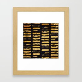 Gold Foil Paint Brush #3 Framed Art Print