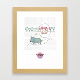 LOVE IN OUR OPINION - ALWAYS ON MY MIND Framed Art Print