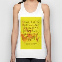 great gatsby Tank Tops featuring The Great Gatsby by Prism Designs