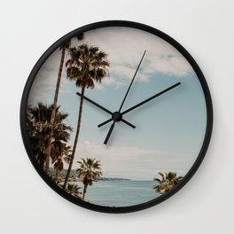 Laguna Beach ocean view   Fine Art Travel Photography Wall Clock