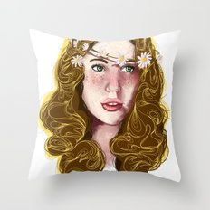 Flowers In Your Hair.... Throw Pillow