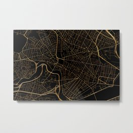 Cambridge map, Massachusetts Metal Print