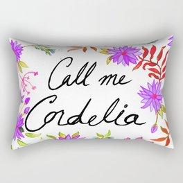 Call Me Cordelia - Purple Flowers Rectangular Pillow