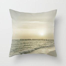 Gasparilla Island Sunset | Vintage Throw Pillow