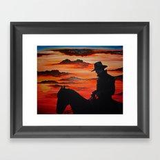 Cowboy Navajo Framed Art Print