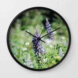 Bluebonnet Wildflowers Wall Clock