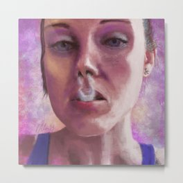 French Inhale Metal Print