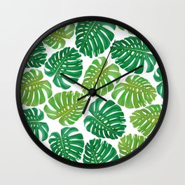 Monstera leaf pattern iPhone 4 4s 5 5c 6 7, pillow case, mugs and tshirt Wall Clock