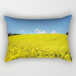 Field of Rapeseed Rectangular Pillow