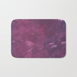 Dark purple vague watercolor Bath Mat