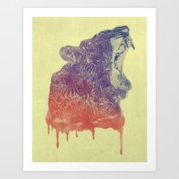 camo Art Prints featuring camo  by samalope