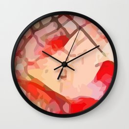 Crackle #8 Wall Clock
