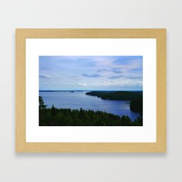 Summer Finnish Lakeland Framed Art Print