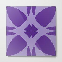 Abstract Flower Diamond Metal Print