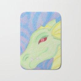 Bright Dragon in pastels Bath Mat