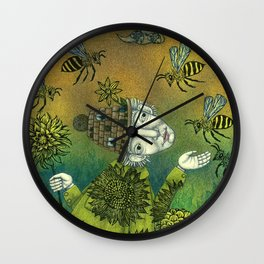 The Beekeeper Wall Clock