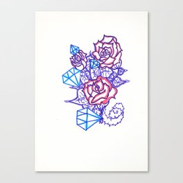 51. Women's love - Dimond and Rose  Canvas Print