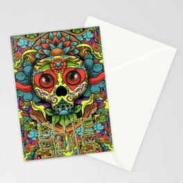 Cute Skull Dia de Los Muertos Stationery Cards