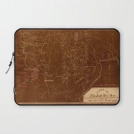 Map Of Georgia 1864 Laptop Sleeve