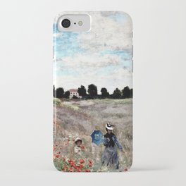 Claude Monet's Poppy Fields iPhone Case