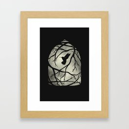 my heart; my home; my cage Framed Art Print