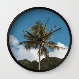 Hawaiian Palm Wall Clock