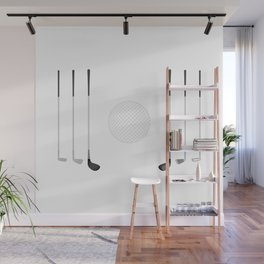 Golf Clubs and Ball Wall Mural