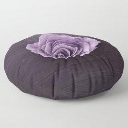 PURPLE - ROSE - ON - WOODEN - SURFACE Floor Pillow
