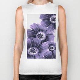 Daisies floral in soft lavender hues Biker Tank