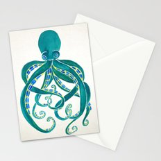 Octopus Watercolor Stationery Cards