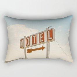 ABANDONED DESERT MOTEL Rectangular Pillow