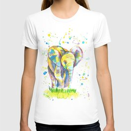 Baby Elephant - Watercolor Painting Print T-shirt
