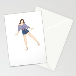 Cute Girl Cute Pose Stationery Cards