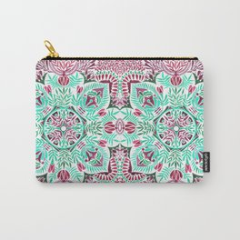 Vibrant floral mandala Carry-All Pouch