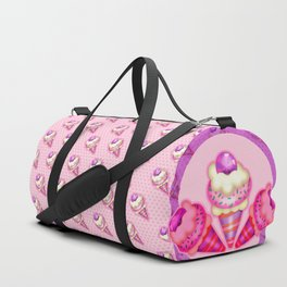 """Strawberry ice cream for the boy and the girl"" Duffle Bag"