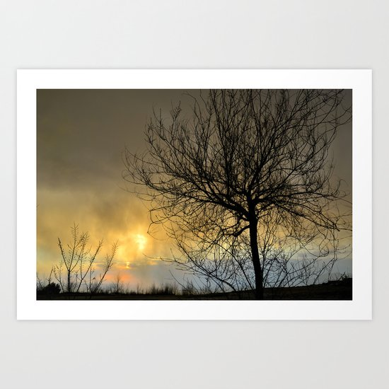 Last light in the storm Art Print
