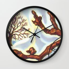 Branch of a Walnut tree in Winter Wall Clock