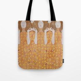 Gustav Klimt Choir of Angels Or Beethoven Frieze Tote Bag
